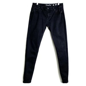 MISS ME • Black Easy Skinny Denim Mid Rise Jeans